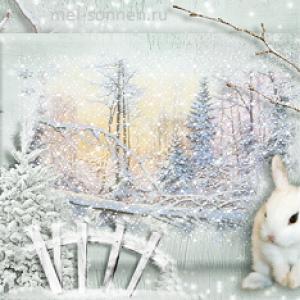 Белая шубка для зайца
