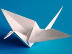 Как сделать бумажного журавлика?
