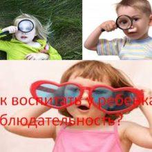 Как воспитать у ребенка наблюдательность?