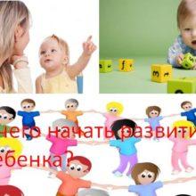 С чего начать развитие ребенка?