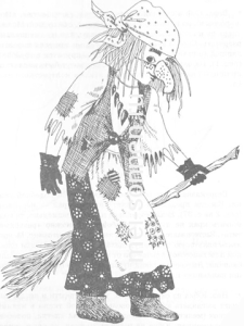 Новогодний костюм Бабы-Яги своими руками1