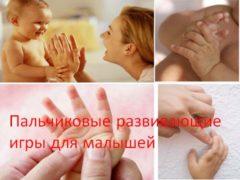 Пальчиковые развивающие игры для малышей