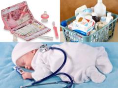 Что должно быть в аптечки для новорожденного ребенка?
