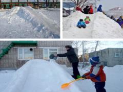 Как сделать горку из снега и правильно ее залить?
