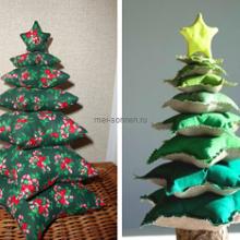 Текстильная игрушка Новогодняя ёлочка своими руками