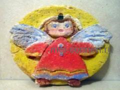 Как сделать магнит «Ангелочек» на холодильник?