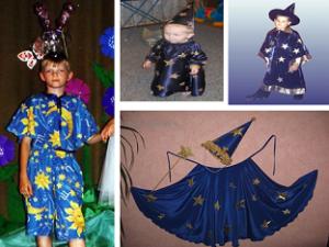 Как сделать новогодний костюм звездочета для ребенка?