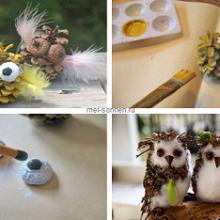 Как сделать сову из природного материала?