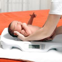 Как ребенок набирает вес?