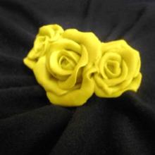 Как слепить розу из полимерной глины?