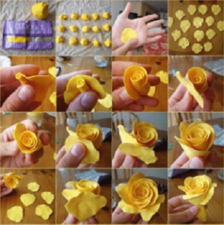 как сделать цветы из мастики