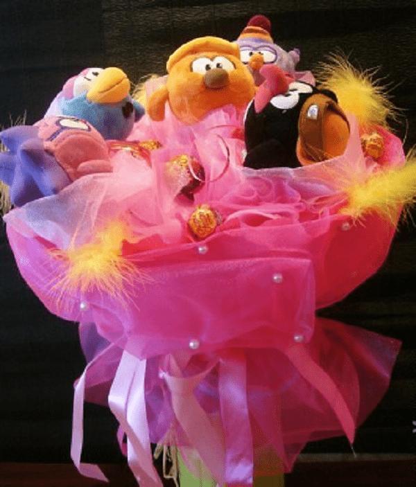 Мастер-класс: делаем букет из мягких игрушек своими руками