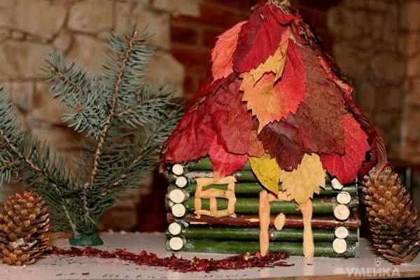 12Поделки из осенних листьев своими руками