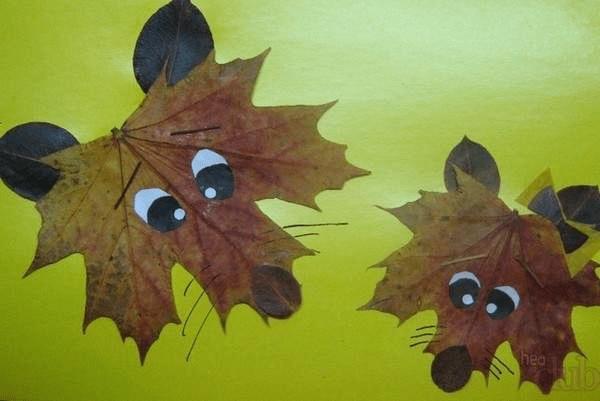 5Поделки из осенних листьев своими руками