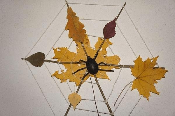 8Поделки из осенних листьев своими руками