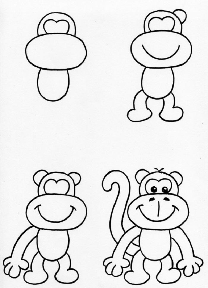 Учимся рисовать обезьяну3