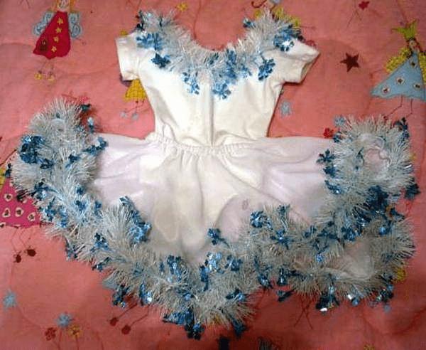 1Как сделать костюм снежинки для девочки на Новый год