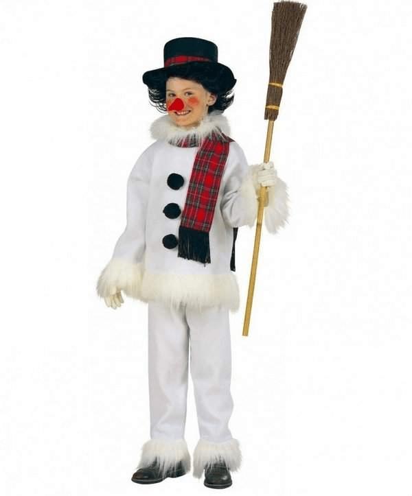 2Как сшить новогодний костюм снеговика для мальчика своими руками