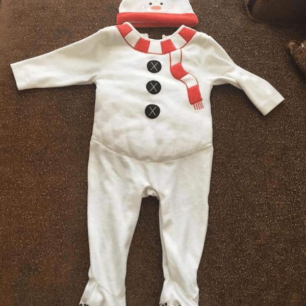 4Как сшить новогодний костюм снеговика для мальчика своими руками