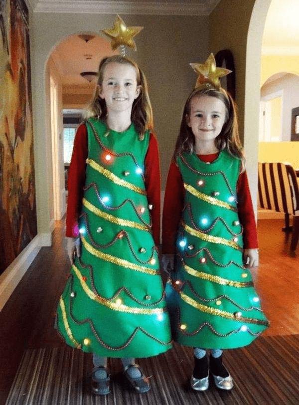 5Костюм елочки для девочки своими руками