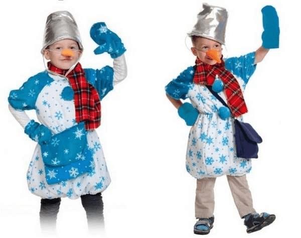 6Как сшить новогодний костюм снеговика для мальчика своими руками