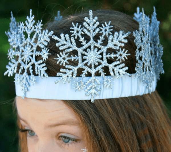 7Как сделать костюм снежинки для девочки на Новый год