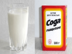 Как готовить средство от кашля с содой и молоком?