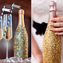 Как украсить бутылку шампанского на новый год?