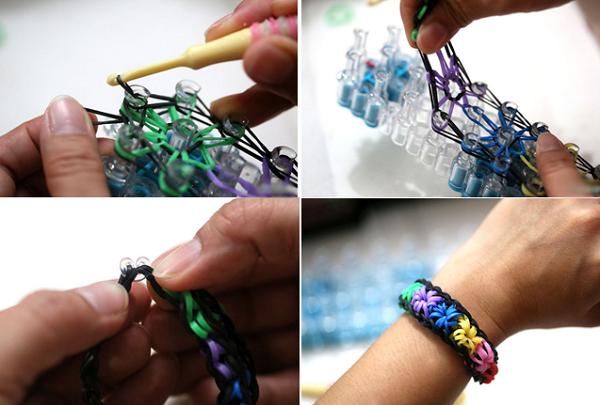 Пошаговые инструкции и схемы плетения браслетов на станке
