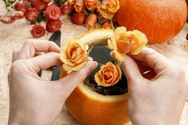 1Оригинальные поделки из тыквы своими руками
