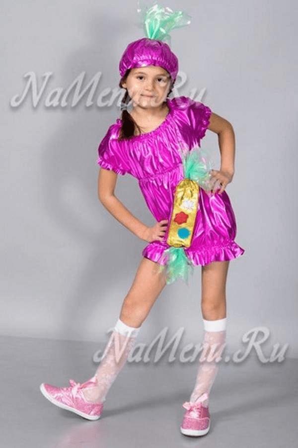 5Как сшить костюм конфетки на Новый год