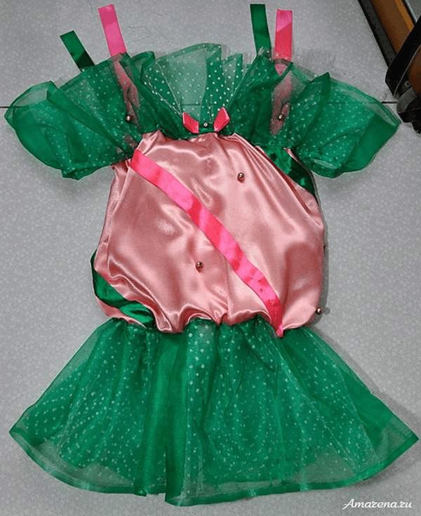 6Как сшить костюм конфетки на Новый год