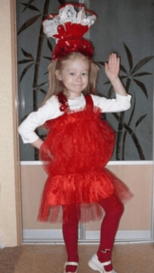 7Как сшить костюм конфетки на Новый год