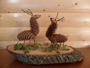 Идеи детских поделок из природного материала