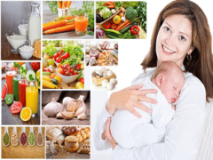 Рацион питания кормящей мамы по месяцам
