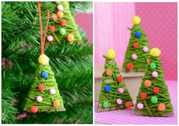 10Игрушки на елку своими руками из подручных материалов