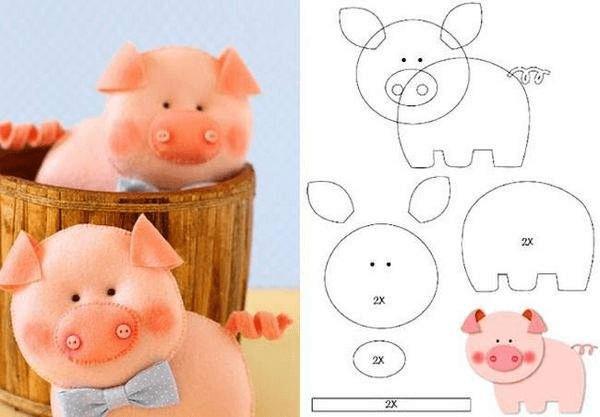 15Поделка свинья своими руками на елку