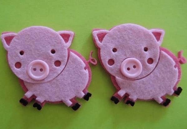 16Поделка свинья своими руками на елку