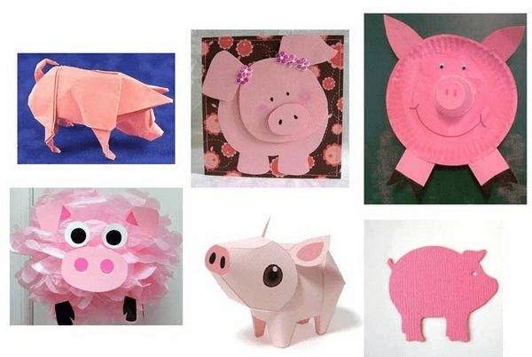 19Поделка свинья своими руками на елку