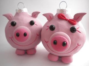 Поделка свинья своими руками на елку
